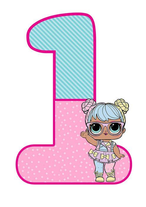 цифра 1 на день рождения в стиле ЛОЛ | Детская вечеринка ...