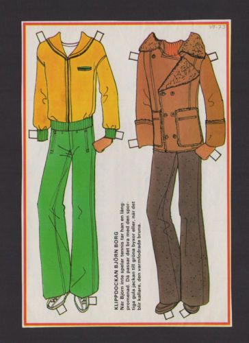 1970-039-s-VINTAGE-SWEDISH-PAPER-DOLL-EXTRA-CLOTHES-FOR-BJORN-BORG-TENNIS