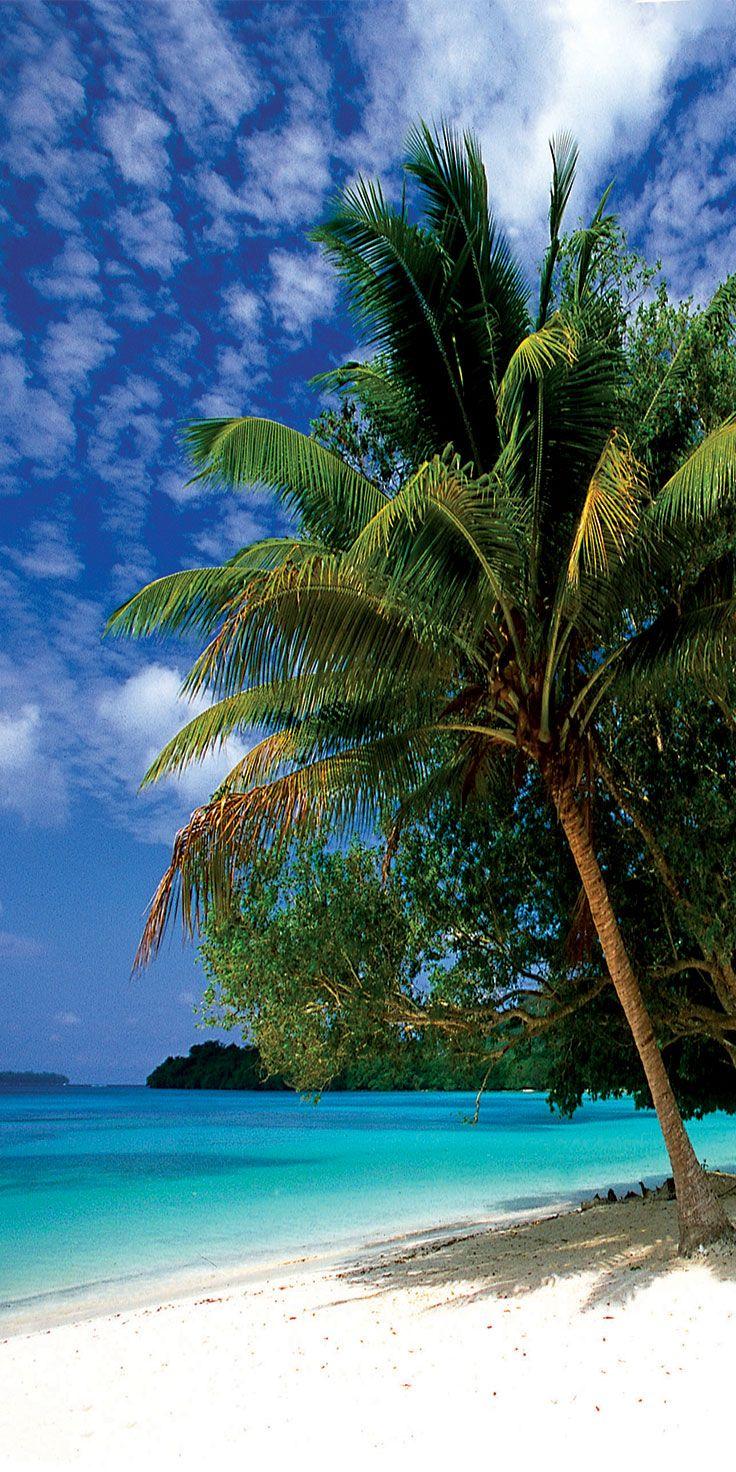 Turquoise waters of Lonnoc Beach, Vanuatu