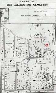 Map of Cemetery, Victoria Market Car park