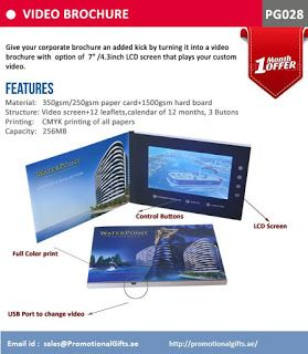 Promotional Gifts Store: gift items in Dubai: Video Brochure Starting AED 99/-