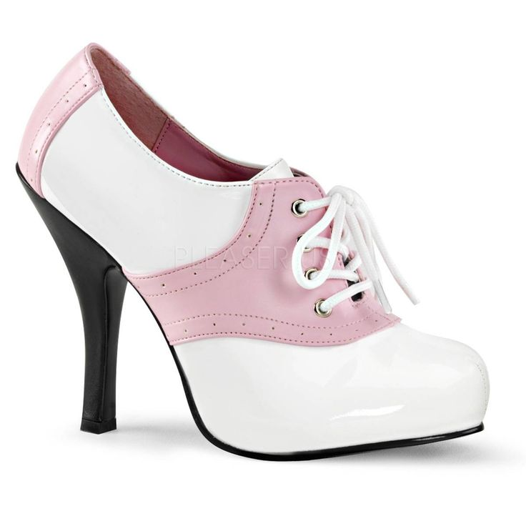 SADDLE 48 ° Damen Pumps ° Pink Weiß Glänzend ° Funtasma  #pumps #damenschuhe #fashion