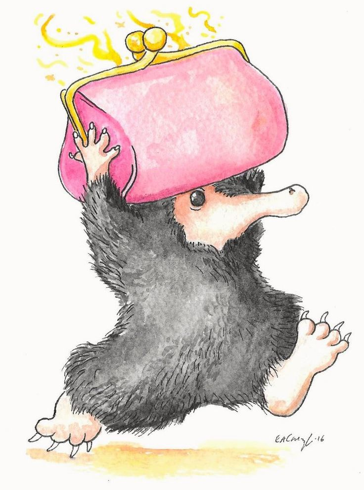 NIFFLER Who else has seen the new trailer for Fantastic Beasts and Where to Find Them? I'm head over heels in love with the Niffler!Artwork (c) Lizzie Cavanagh