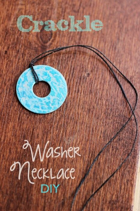 Crackle Washer Necklace DIY. So quick and easy to make. Perfect for large groups to make together!