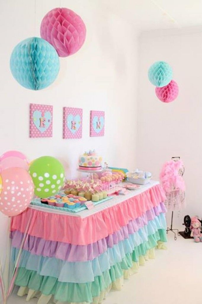 Love the tablecloth - Cute as a Button 1st Birthday Party with So Many Darling Ideas via Kara's Party Ideas | Kara'sPartyIdeas.com #Girl #1stBirthday #Buttons #Se...