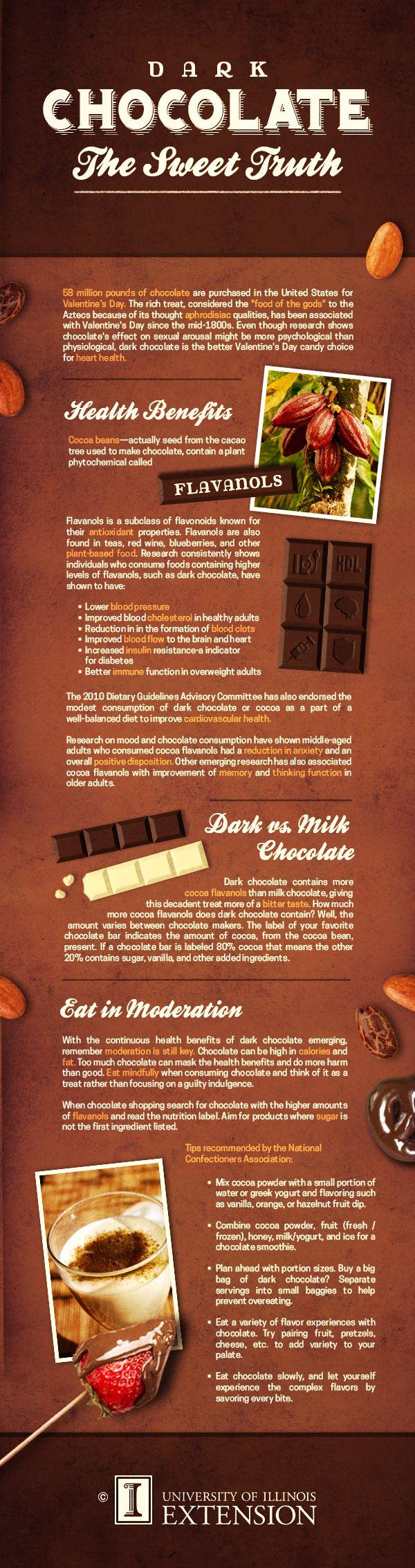 "INFOGRAPHIC: ""Dark Chocolate: The Sweet Truth"" #health # ..."