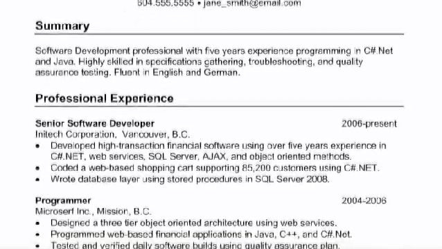 Submit resume