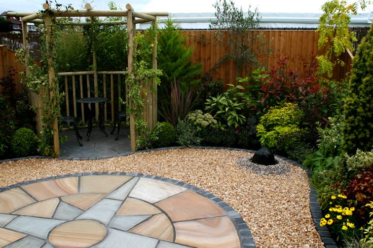 60 best images about backyard landscape garden on for Simple low maintenance gardens