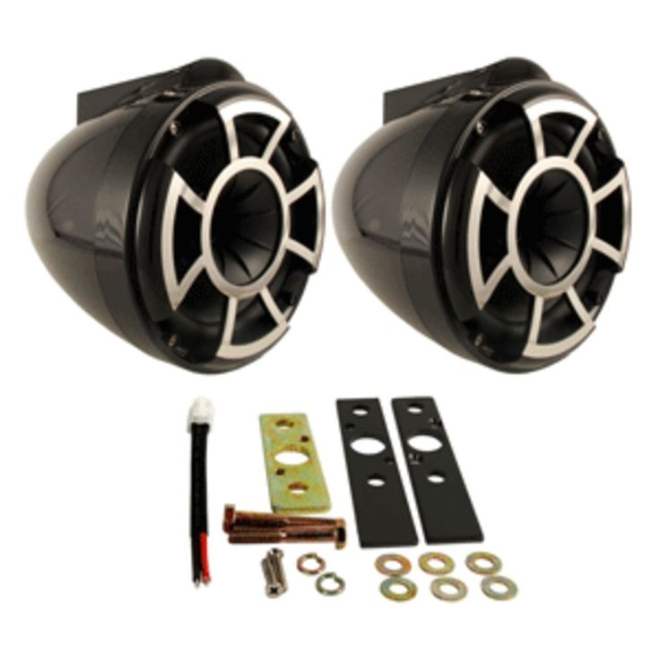 Wet Sounds REV8 8 Wakeboard Tower Speakers Pair w/X Mount Hardware - Black