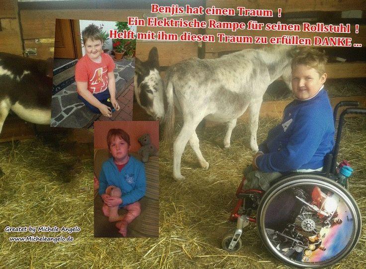 Benjis hat einen Traum -  Ein Elektrische Rampe für seinen Rollstuhl !