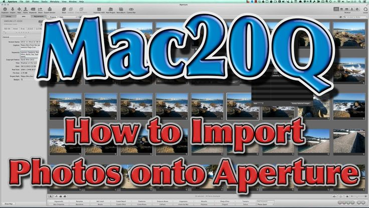 How to import photos in to Aperture Lots of options to make the import work better as a workflow for your photography with Aperture.  Add effects, change file names, add keywords and other meta data to the image and even have the file backed up while being imported into Aperture.