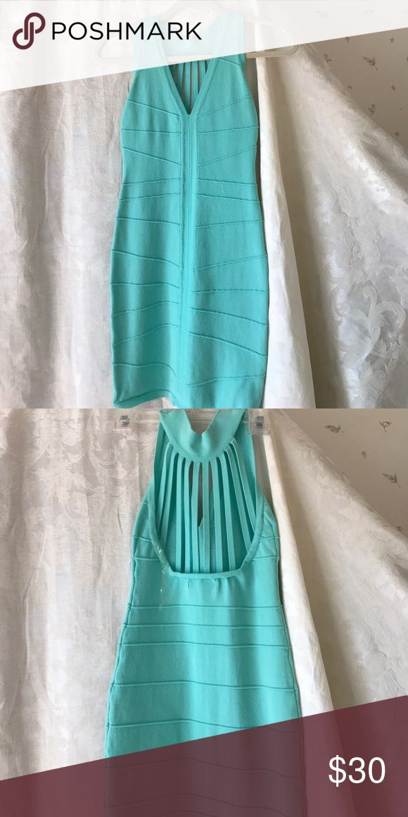 Fitted stretch party dress Beautiful aqua party dress. Stretch. Firm fitted WOW couture Dresses Mini