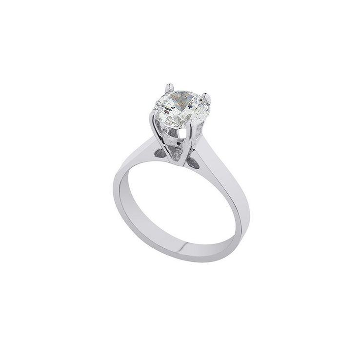 Ring platinum and diamonds! Μονοπετρο από πλατίνα με διαμάντια