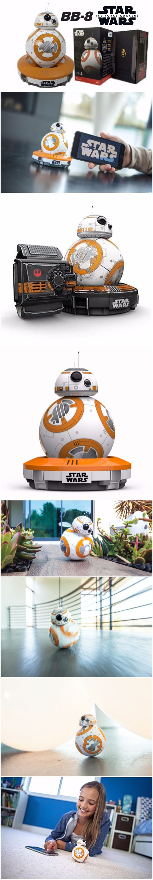 Sphero Star Wars BB-8 App Controlled Robot BB-8 app-enabled Droid with a tough and waterproof polycarbonate shell Bluetooth Smart connection allowing Gyroscopic propulsion to a 30m range Induction charging stand providing 60 minute battery life Compatible with the Force Band for control via gestures Free iOS & Android compatible apps; allow Adaptive Personality and view holographic #recordings #Sphero #StarWars# BB-8 App #Controlled #Robot