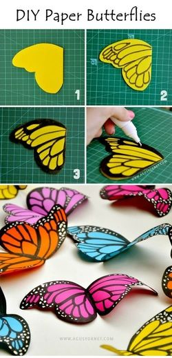 DIY Paper Butterflies @Sunil Kanderi Kanderi Kanderi Kanderi Kanderi Mehra Be Happy Alessandra Hayden (Fairy Party Decor!)