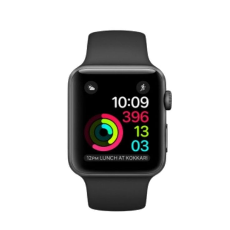 SEALED APPLE WATCH SERIES 1 42MM SPACE GRAY ALUMINUM CASE WITH BLACK SPORT BAND
