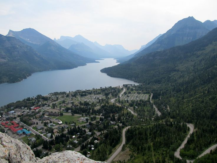Waterton National Park, Alberta, Canada - view of Waterton from Bear's Hump