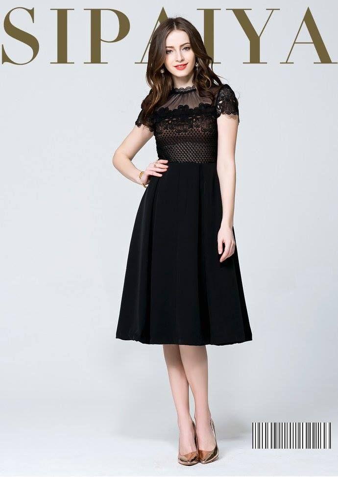 #Rochie #midi neagra, potrivita pentru acest sezon. Alege sa fii #fashion cu #tinutele #casual din #colectia #Topfashion!