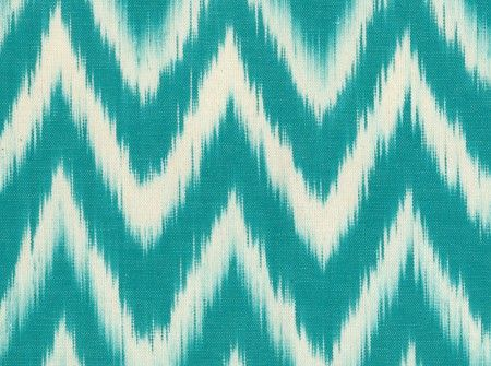 """TALAIA"", a Turquoise chevron pattern for a refreshing style. #ikat #chevron #fabric"