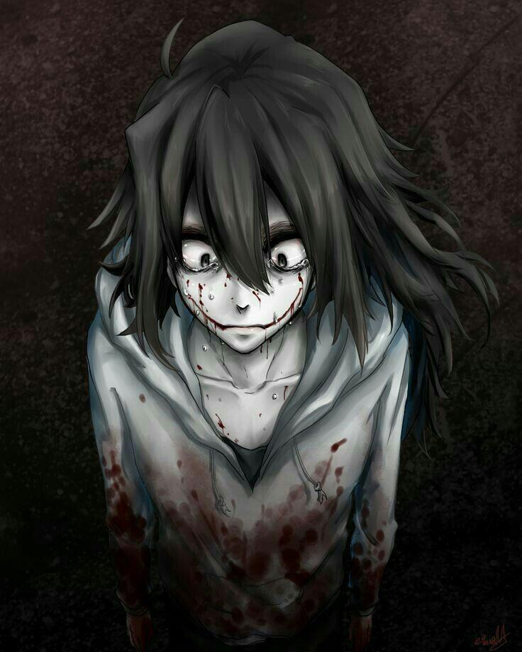 Jeff the Killer, sad, crying; Creepypasta