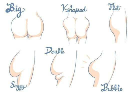 Butt workouts for certain muscles.....seriously, these drawings just made me laugh,..... a little.