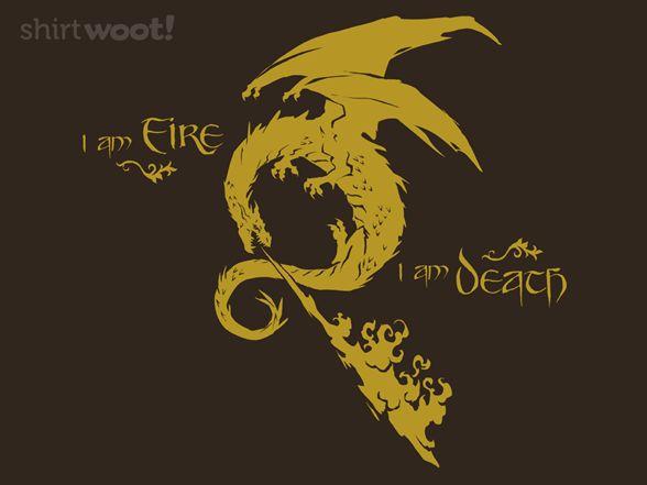Fire & Death... LOTR the hobbit.. smaug shirt