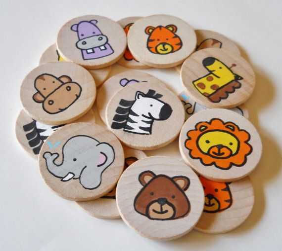 Buy Memory Game, Zoo Animals, Going to the Zoo Memory Game,  waldorf toys, games and puzzles by 2heartsdesire. Explore more products on http://2heartsdesire.etsy.com