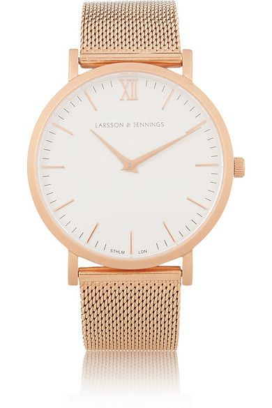 Larsson & Jennings CM rose gold-plated watch only $380.00!  I don't think that's too bad.