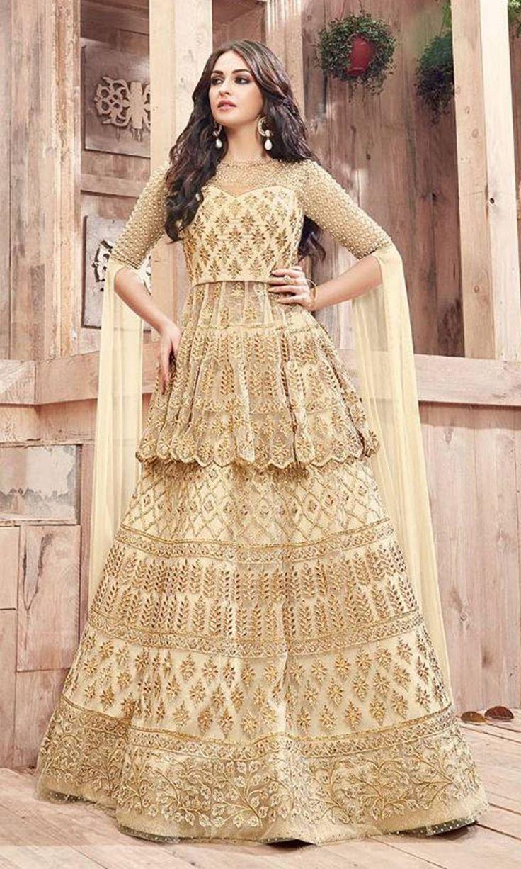 Buy online Party Wear Beige Designer Salwar Kameez (SKU Code : SUEBRZO21001) at Ishimaya Fashion.