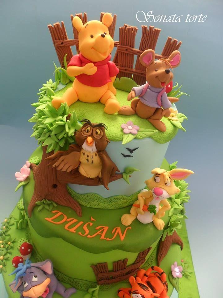 263 besten torten disney bilder auf pinterest rezepte for Winnie pooh kuchen deko