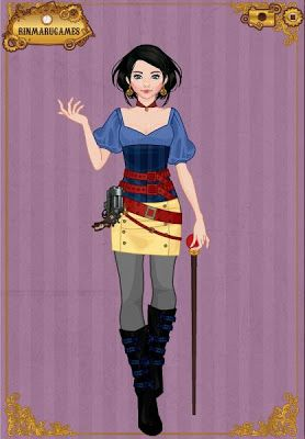 EPBOT: Steampunk Disney Princesses? I'm not really sure what make this steampunk other than the gun and the cane. It's more a cool modern take on Mulan.