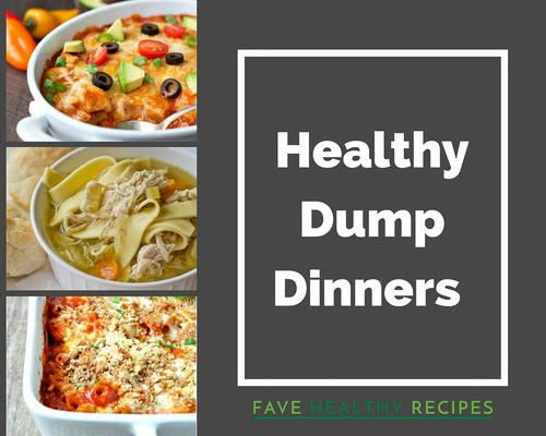 10 Healthy Dump Dinner Recipes | Short on time? You need to make one of these healthy dump dinners!
