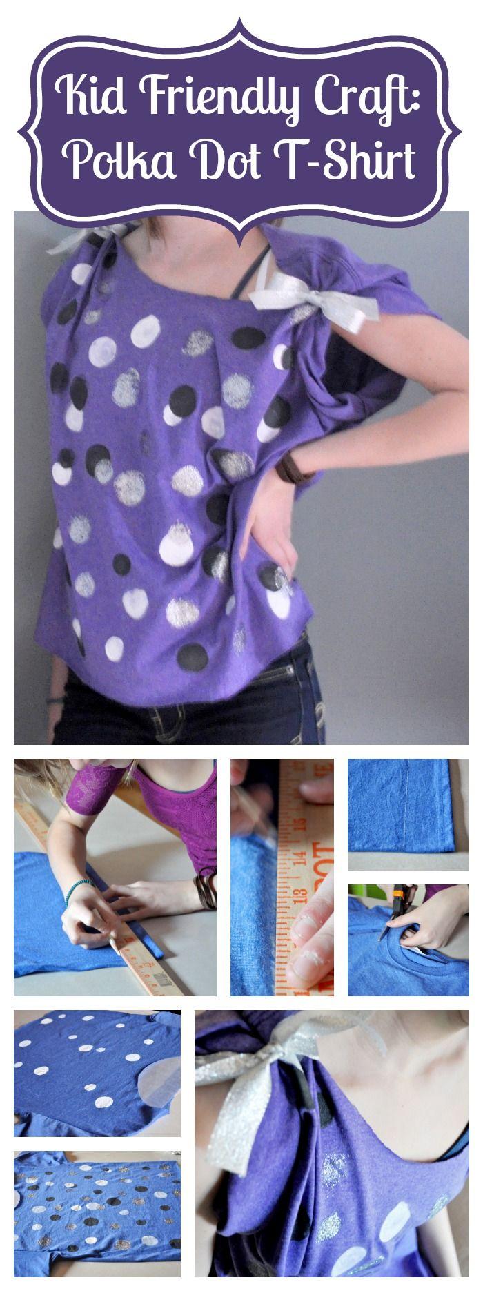 Kid Friendly Craft: Painted Polka Dot T-Shirt