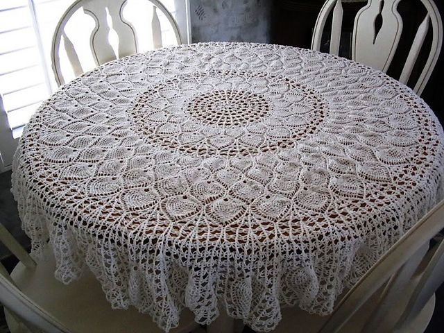 Ravelry: Pineapple Potpourri Tablecloth pattern by Mom's Love of Crochet