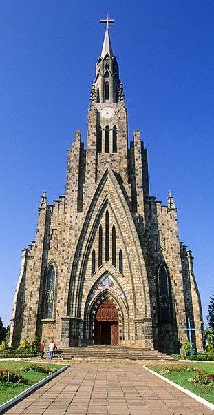 Igreja Matriz de Nossa Senhora de Lourdes, Canela, RS, Brasil