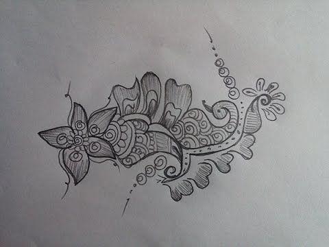 Drawing Beautiful Flower Bay Mehndi Design for Hands