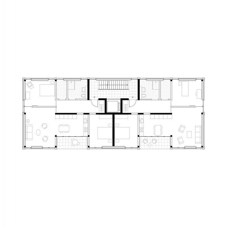 1270 best arch multi unit apartments images on for Multi unit apartment plans