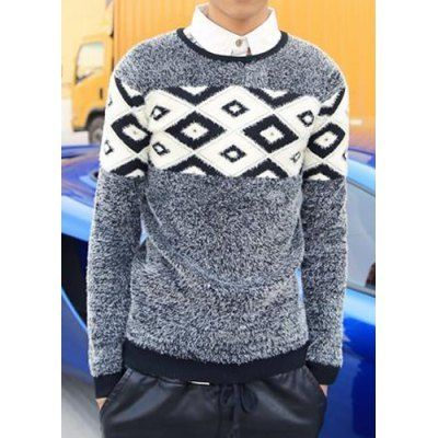 Type: Pullovers  Material: Polyester, Cotton  Sleeve Length: Full  Collar: Round Neck  Style: Fashion  Weight: 1KG  Package Contents: 1 x Sweater  SizeBustLengthShoulder WidthSleeve Length M90654064 L92664165 XL94674266