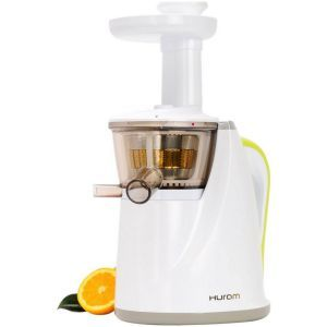 An excellent juicer with super fluid operation, the Hurom Juicer works on cold press principle and contrary to its name, does the job quite quickly. The auger fitted to press fruits does a fine job at extracting even the most vital enzymes and nutrients out of what you put in.