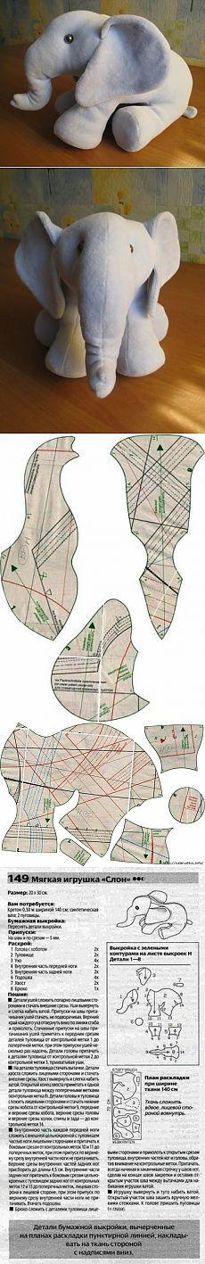 Elefante con patrones y Descripción