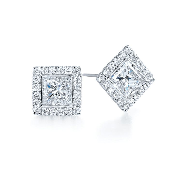 princess cut diamond stud earrings 8
