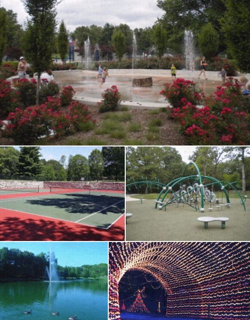 Tilles Park | Brentwood, MO. Playground, Trails, Tennis Courts, Fishing, Spray Fountain Play Area & Winter Wonderland