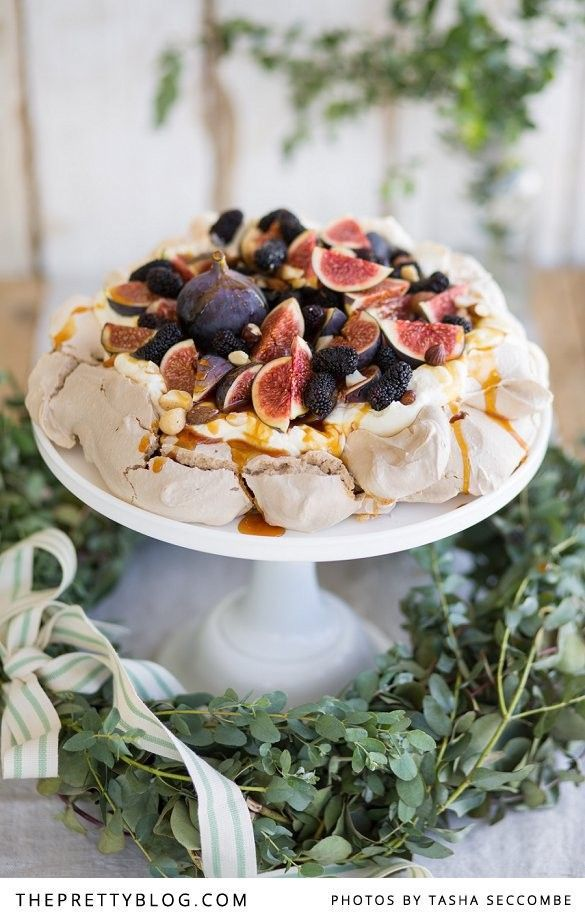 It's no secret that I love to serve pavlova for festive occasions. I've made a fair amount of these majestic-looking meringue desserts over the past few years. They are just dreamy to look at and the perfect ending to an extended feast because of the crisp light texture, puffy inside, tart fruit flavours and creamy toppings.