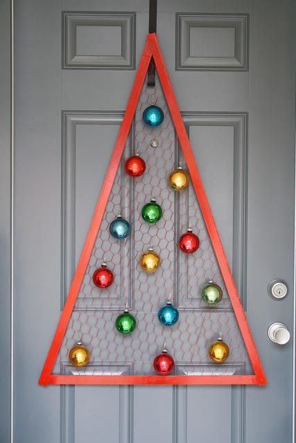 Arbol navideño con alambre de gallinero