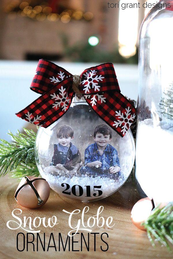 Snow Globe Photo Christmas Ornaments | Tori Grant Designs