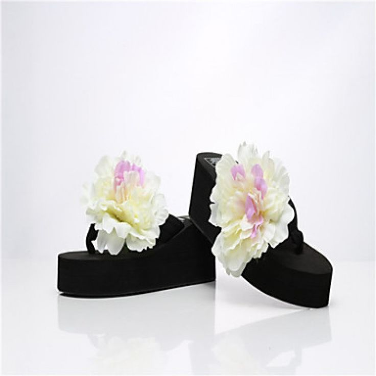 2015 Bohemia fashion handmade flowers beach slippers anti-sandal flip flops with thick bottom Price***NZ$30***