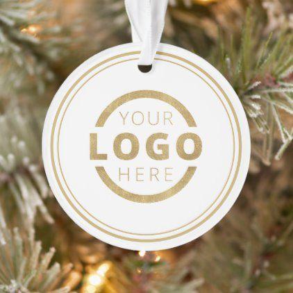 Custom Color Company Logo Christmas Elegant Party Ornament ...