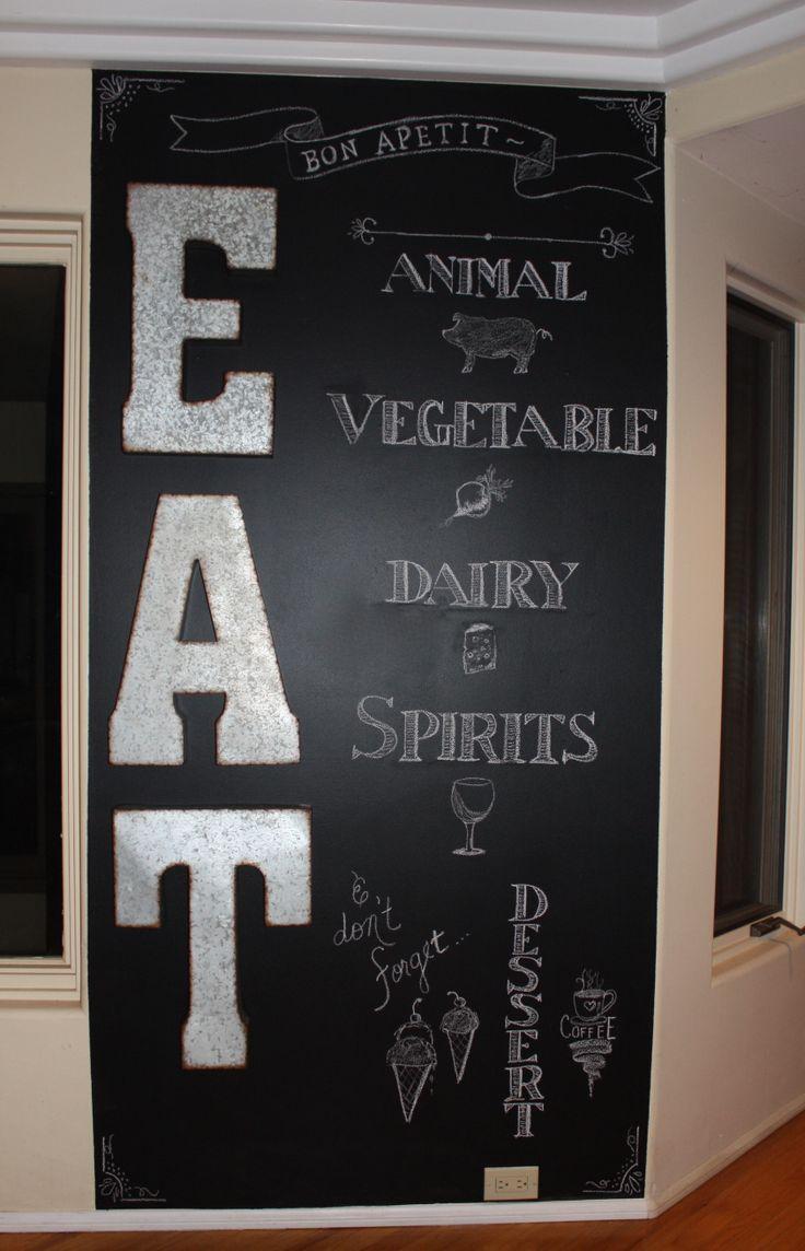 107 best home chalkboard wall images on pinterest chalkboard