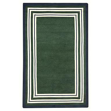 Guy Capel Multiple Border Rug 9x12 Feet Dark Green Navy