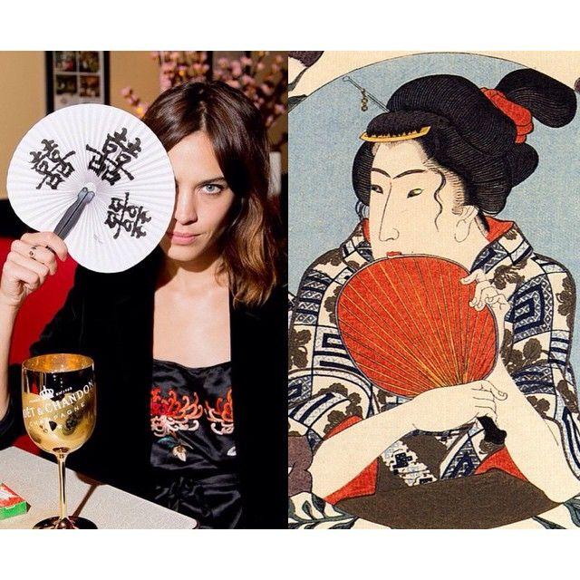 """Mi piace"": 1,995, commenti: 22 - Art-lexa Chung (@artlexachung) su Instagram: """"Kaji of Gion Holding a Fan"" by  Utagawa Kuniyoshi / Alexa by @kevintachman Pre #MetGala…"""
